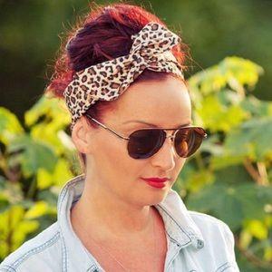 Accessories - Leopard Print Wired Headband